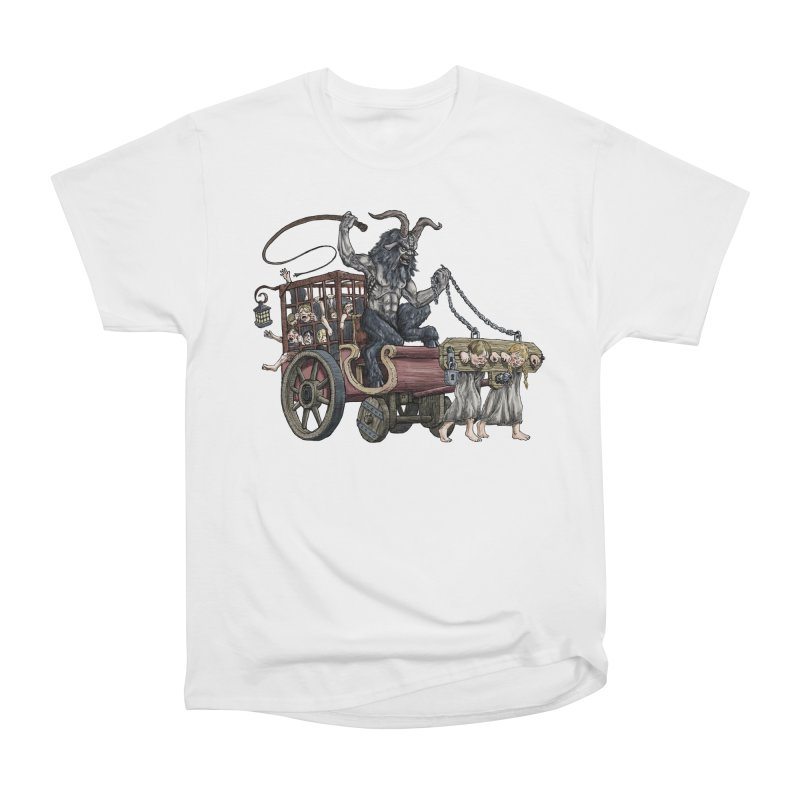 Krampus Wagon Men's Heavyweight T-Shirt by Octophant's Artist Shop