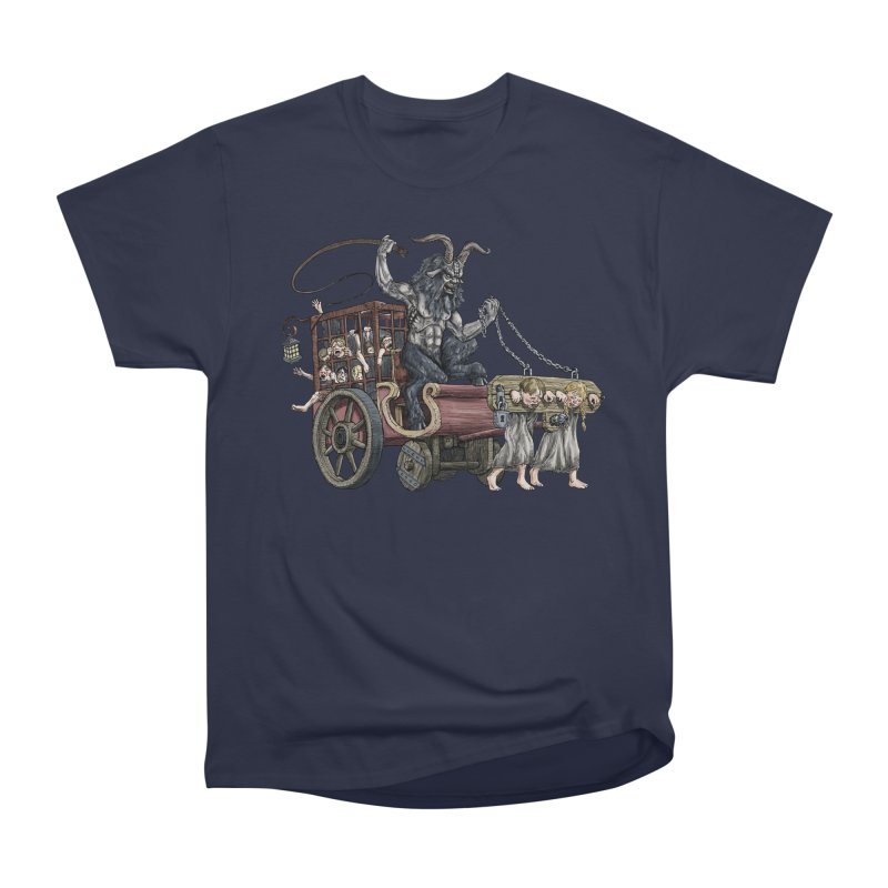 Krampus Wagon Men's Heavyweight T-Shirt by Octophant's Artist Shop