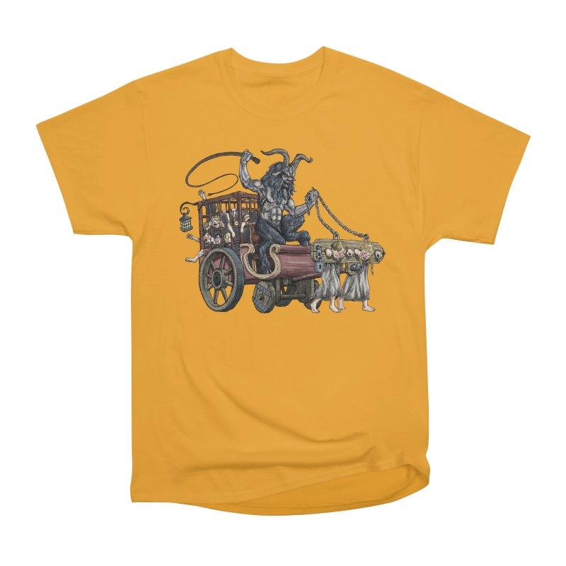Krampus Wagon Women's Heavyweight Unisex T-Shirt by Octophant's Artist Shop