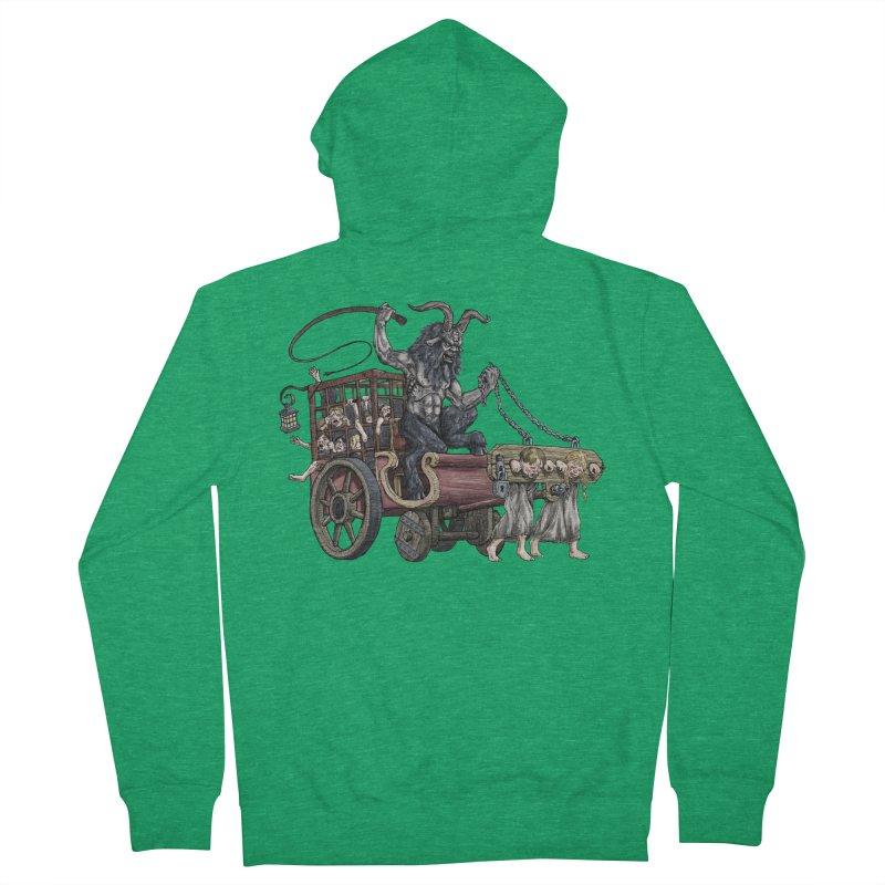 Krampus Wagon Women's Zip-Up Hoody by Octophant's Artist Shop