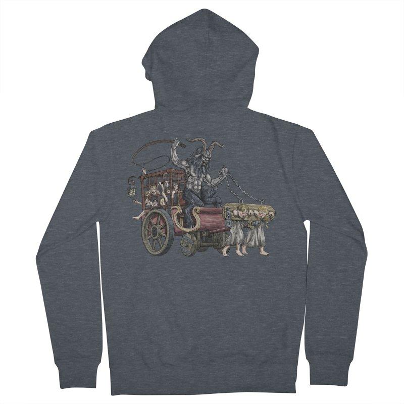 Krampus Wagon Men's Zip-Up Hoody by Octophant's Artist Shop