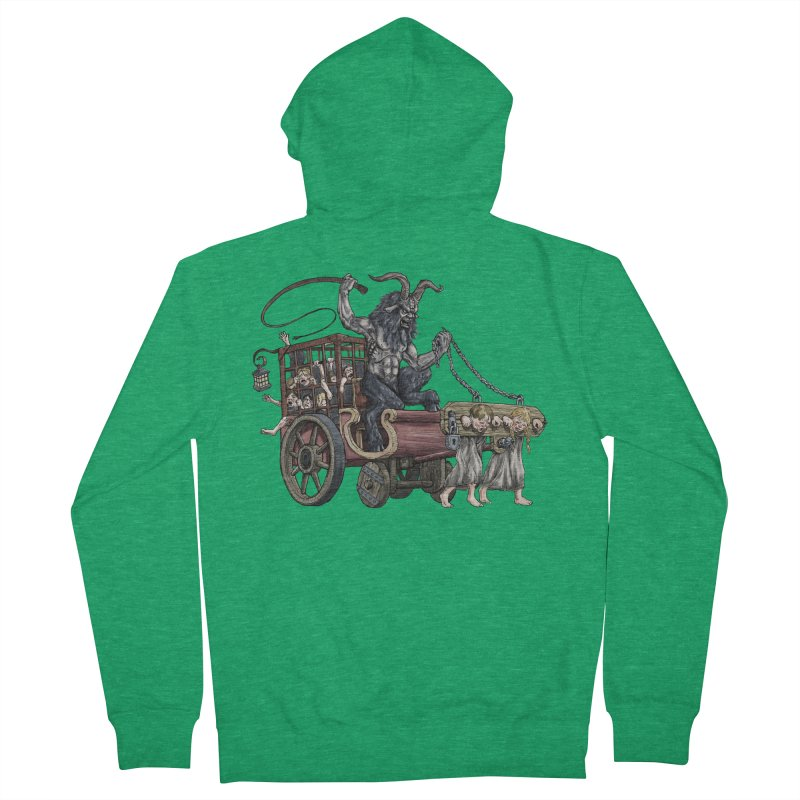 Krampus Wagon Men's Zip-Up Hoody by Octophant's Artist Shop