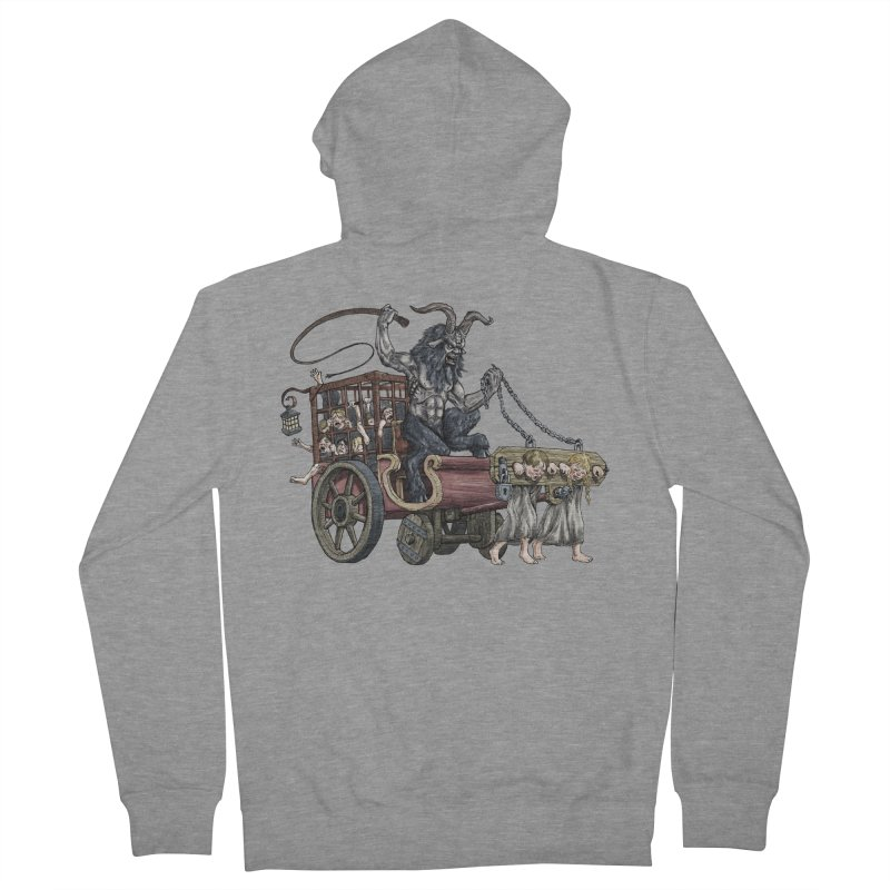 Krampus Wagon Men's French Terry Zip-Up Hoody by Octophant's Artist Shop