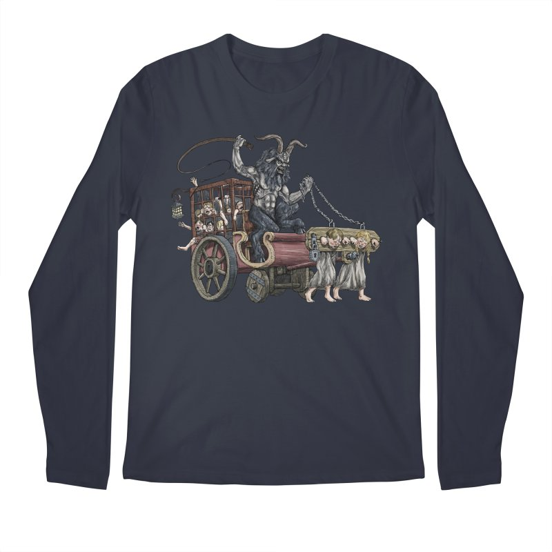 Krampus Wagon Men's Regular Longsleeve T-Shirt by Octophant's Artist Shop