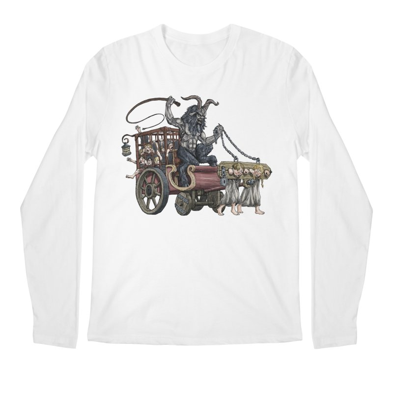 Krampus Wagon Men's Longsleeve T-Shirt by Octophant's Artist Shop