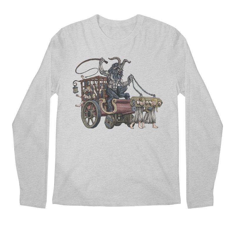 Krampus Wagon Men's Regular Longsleeve T-Shirt by Octophant's Artist Shop