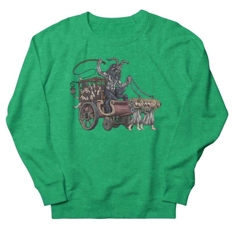 Krampus Wagon Women's Sweatshirt by Octophant's Artist Shop