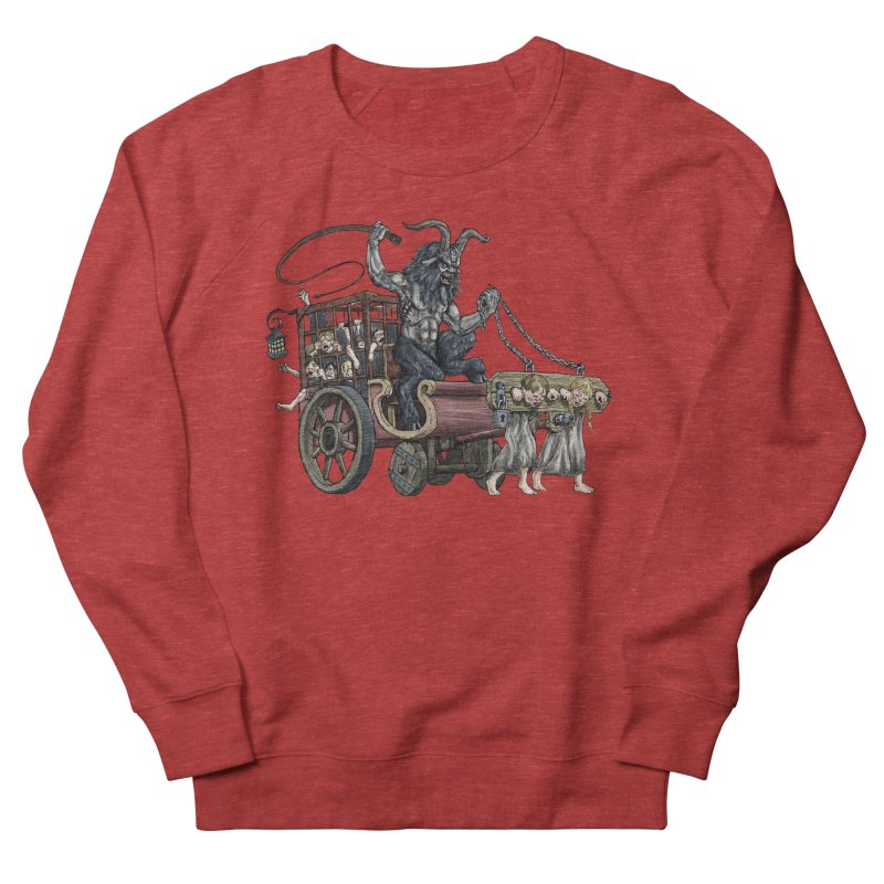 Krampus Wagon Women's French Terry Sweatshirt by Octophant's Artist Shop