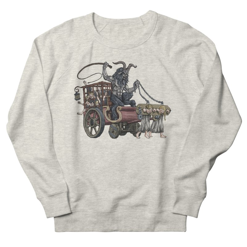 Krampus Wagon Men's French Terry Sweatshirt by Octophant's Artist Shop