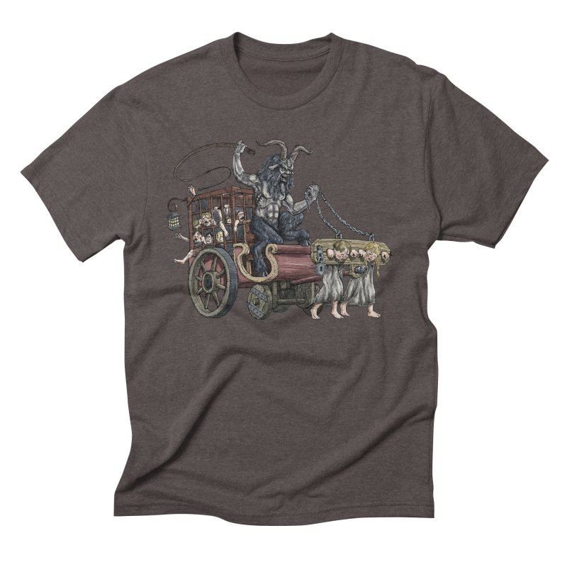 Krampus Wagon Men's Triblend T-Shirt by Octophant's Artist Shop