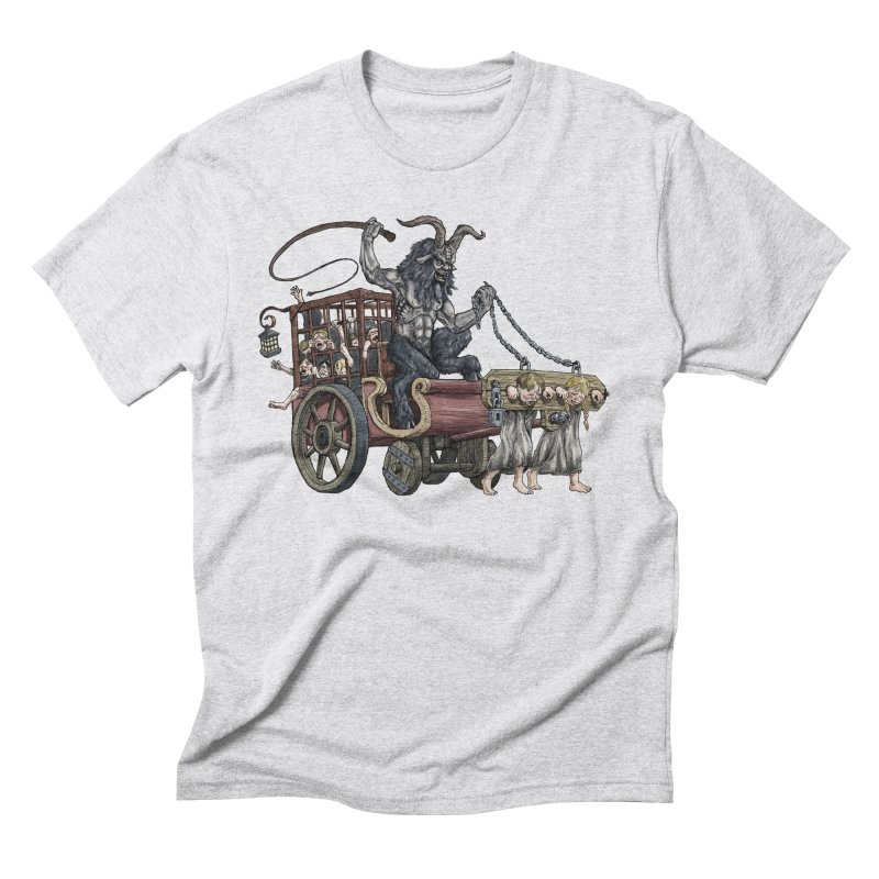 Krampus Wagon Men's Triblend T-Shirt by Octophant's Artist Shop