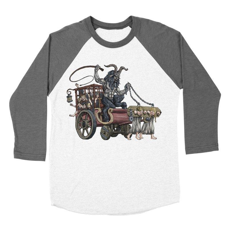 Krampus Wagon Women's Baseball Triblend T-Shirt by Octophant's Artist Shop