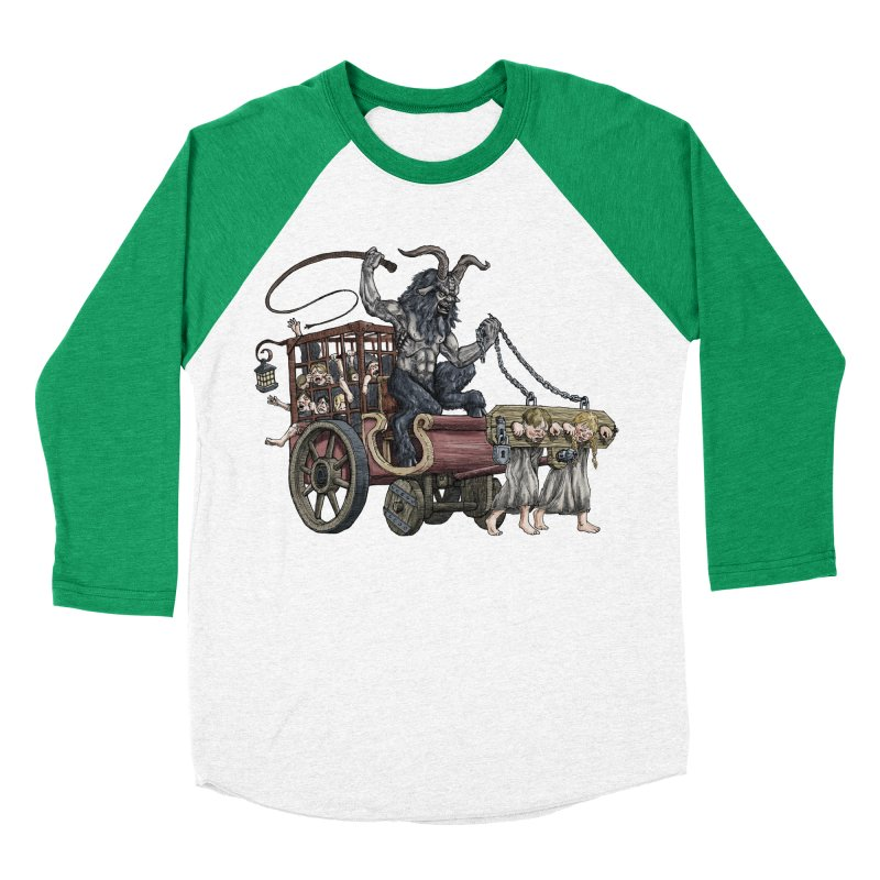 Krampus Wagon Women's Baseball Triblend T-Shirt by Octophant's Artist Shop