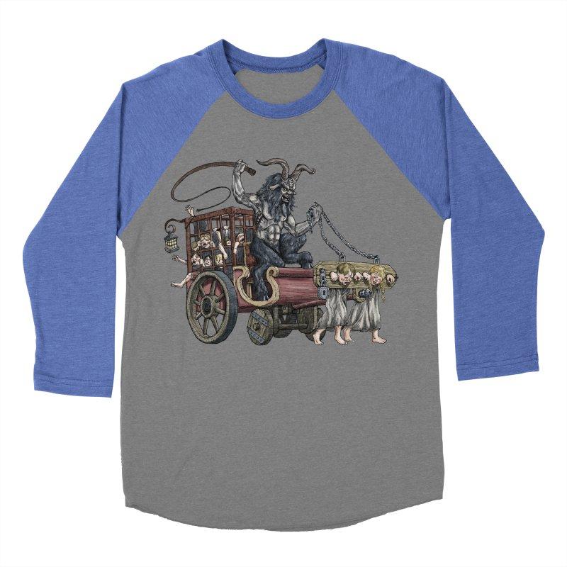 Krampus Wagon Men's Baseball Triblend T-Shirt by Octophant's Artist Shop