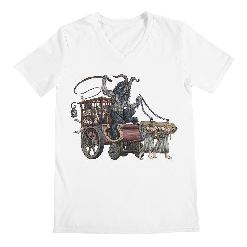 Krampus Wagon Men's Regular V-Neck by Octophant's Artist Shop