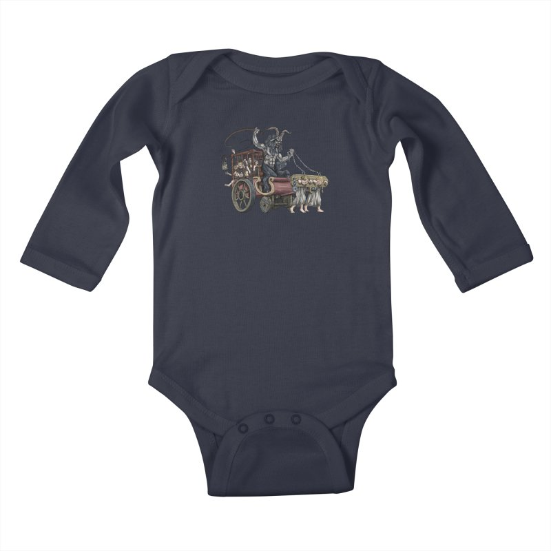 Krampus Wagon Kids Baby Longsleeve Bodysuit by Octophant's Artist Shop