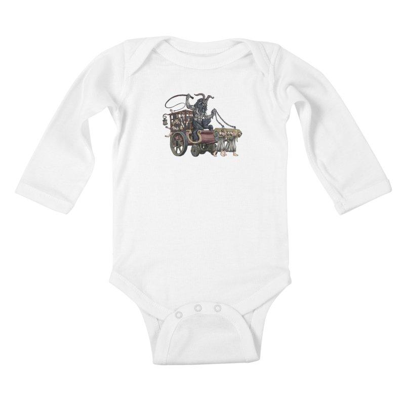 Krampus Wagon Kids Baby Longsleeve Bodysuit by Octophant's Artist Shop