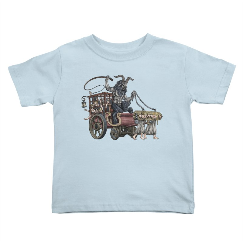 Krampus Wagon Kids Toddler T-Shirt by Octophant's Artist Shop