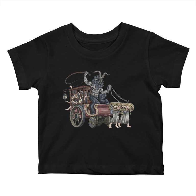 Krampus Wagon Kids Baby T-Shirt by Octophant's Artist Shop