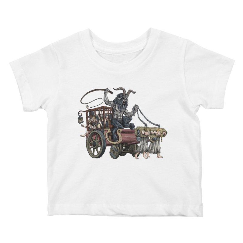 Krampus Wagon Kids Baby T-Shirt by Octophant's Artist Shop