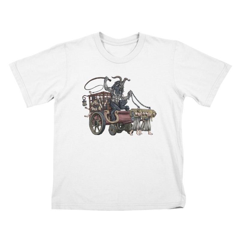 Krampus Wagon Kids T-shirt by Octophant's Artist Shop