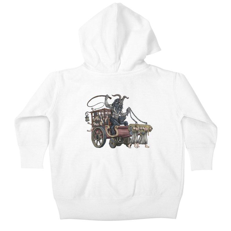 Krampus Wagon Kids Baby Zip-Up Hoody by Octophant's Artist Shop