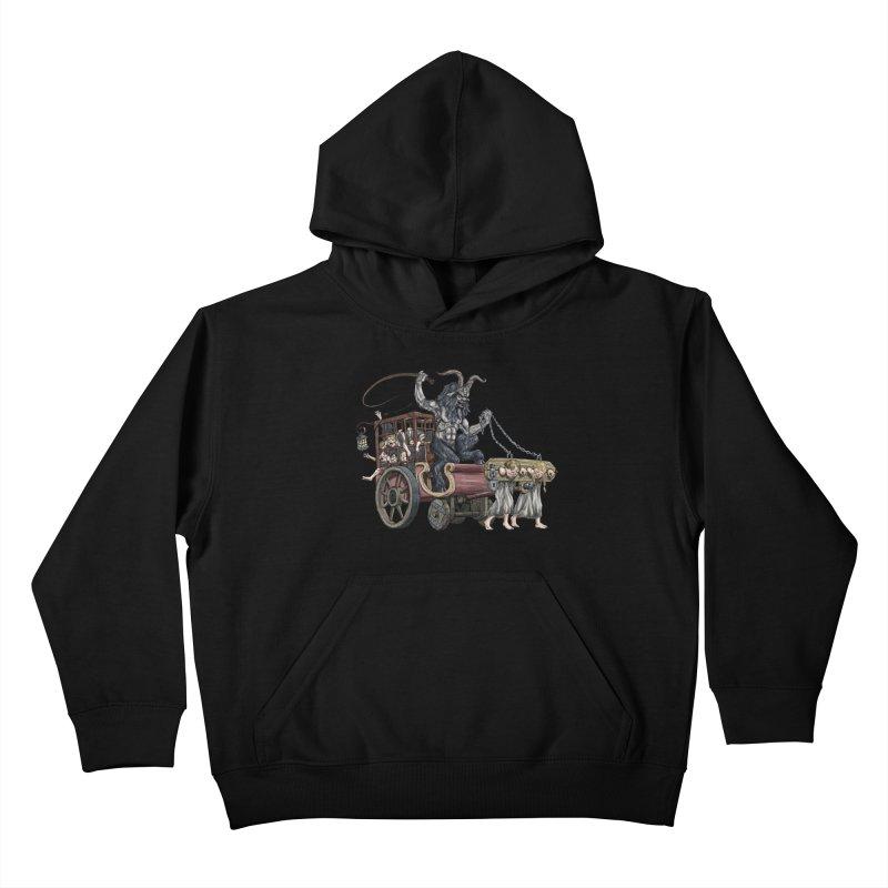 Krampus Wagon Kids Pullover Hoody by Octophant's Artist Shop