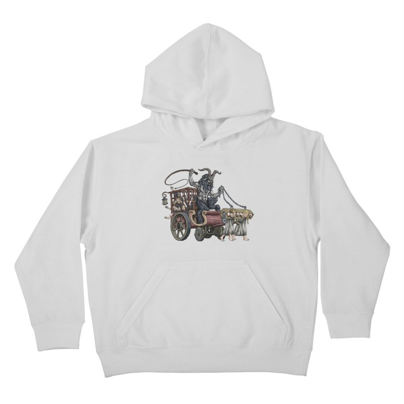 Krampus Wagon Kids Pullover Hoody by Octophant's Artist Shop