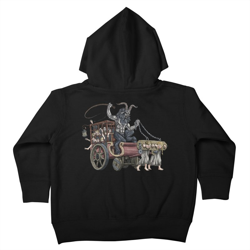 Krampus Wagon Kids Toddler Zip-Up Hoody by Octophant's Artist Shop