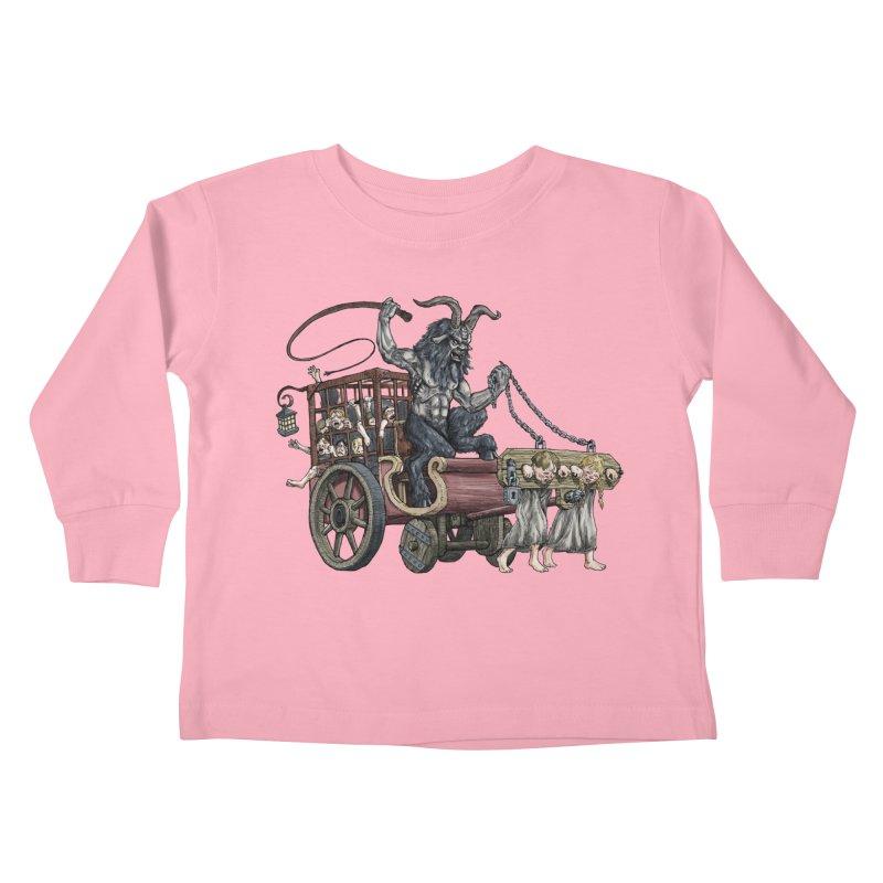 Krampus Wagon Kids Toddler Longsleeve T-Shirt by Octophant's Artist Shop