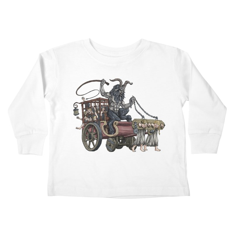 Krampus Wagon Kids Toddler Longsleeve T-Shirt by Octophant's Artist Shop