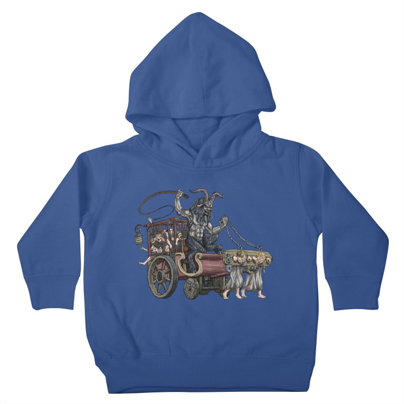 Krampus Wagon Kids Toddler Pullover Hoody by Octophant's Artist Shop