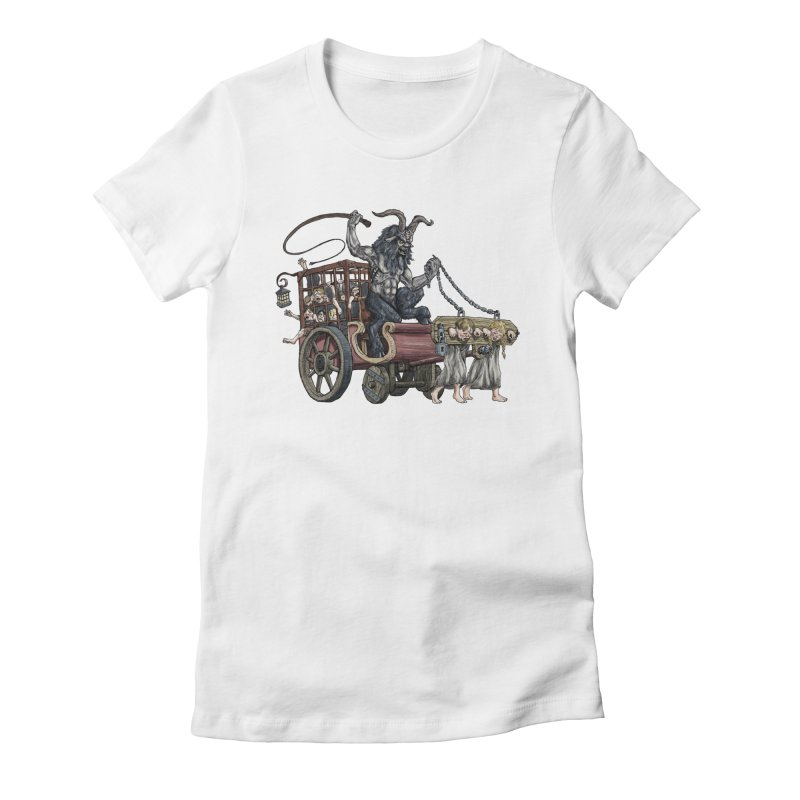 Krampus Wagon Women's Fitted T-Shirt by Octophant's Artist Shop