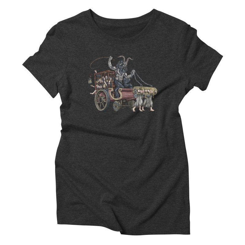 Krampus Wagon Women's Triblend T-Shirt by Octophant's Artist Shop