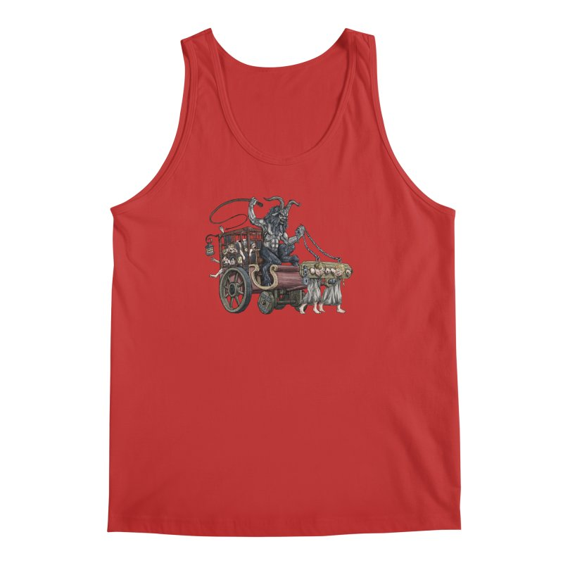 Krampus Wagon Men's Tank by Octophant's Artist Shop
