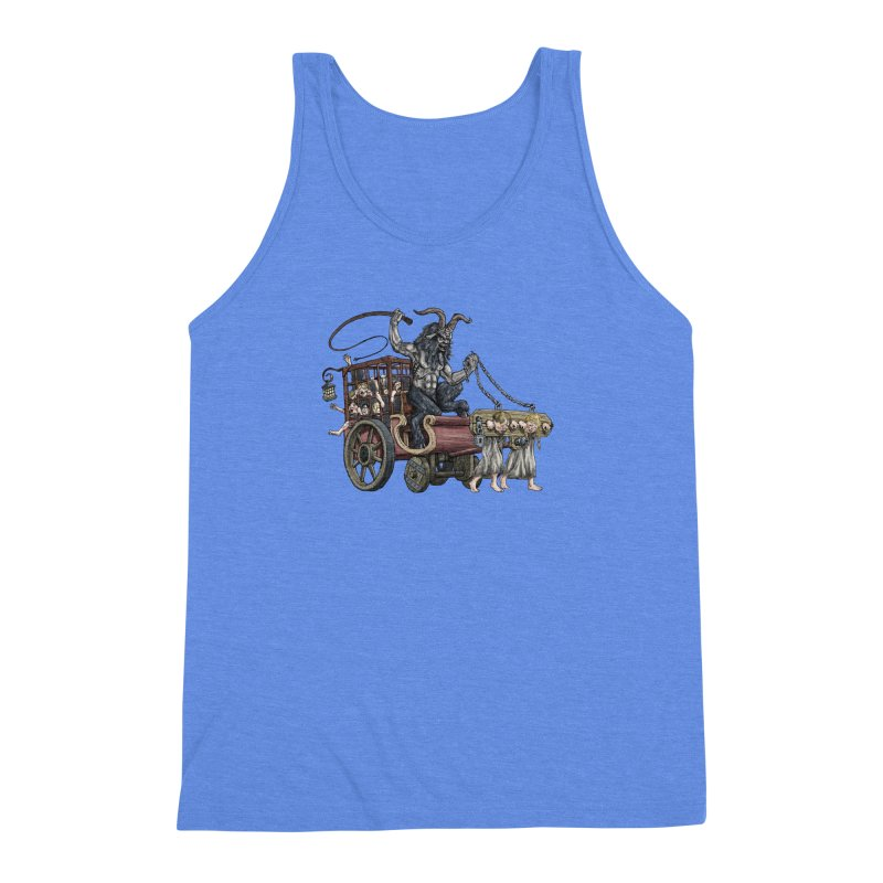 Krampus Wagon Men's Triblend Tank by Octophant's Artist Shop