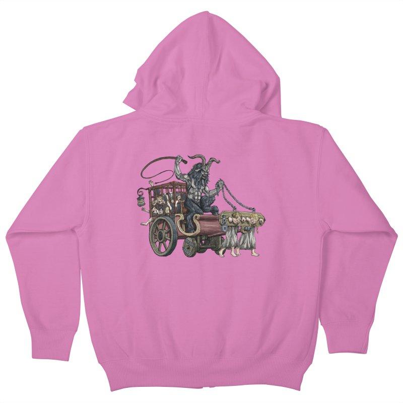 Krampus Wagon Kids Zip-Up Hoody by Octophant's Artist Shop