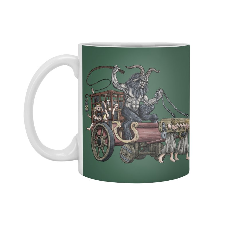Krampus Wagon Accessories Mug by Octophant's Artist Shop