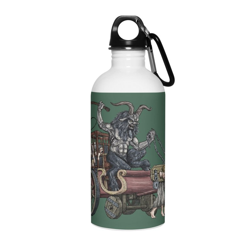 Krampus Wagon Accessories Water Bottle by Octophant's Artist Shop