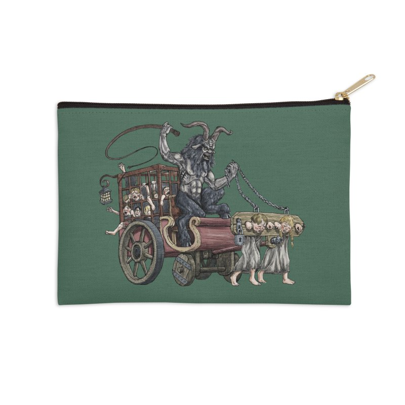 Krampus Wagon Accessories Zip Pouch by Octophant's Artist Shop