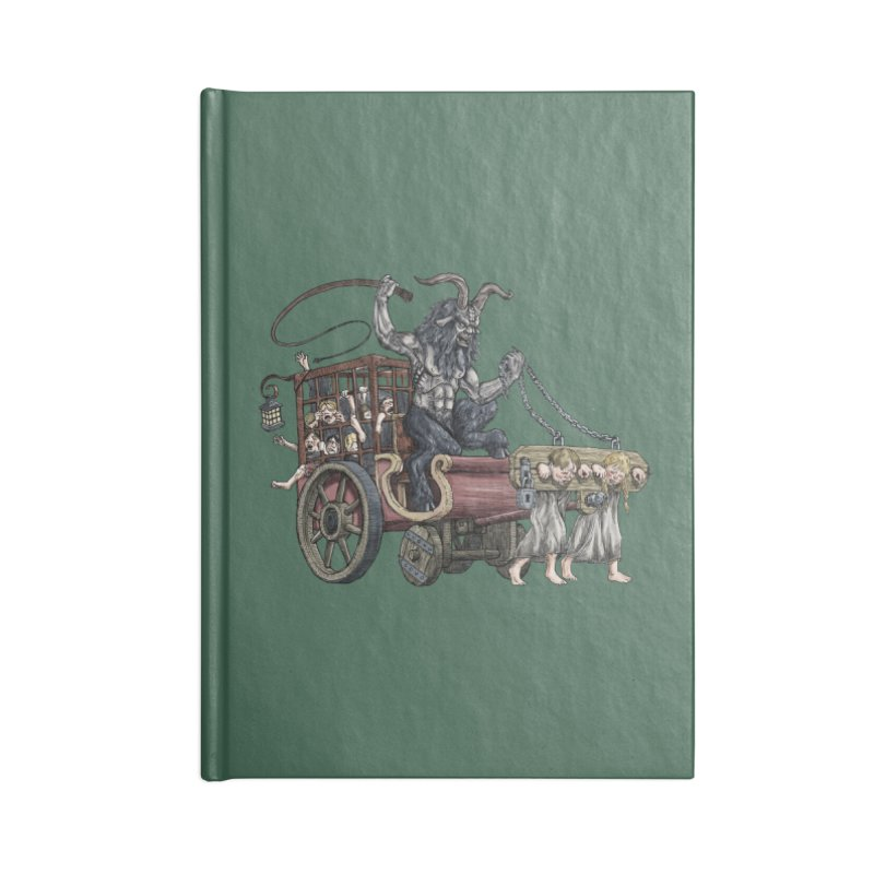 Krampus Wagon Accessories Notebook by Octophant's Artist Shop