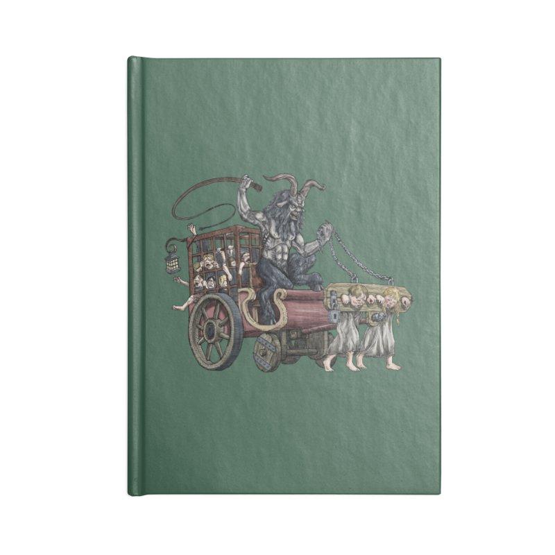 Krampus Wagon Accessories Notebook by Octophant's Artist Shop