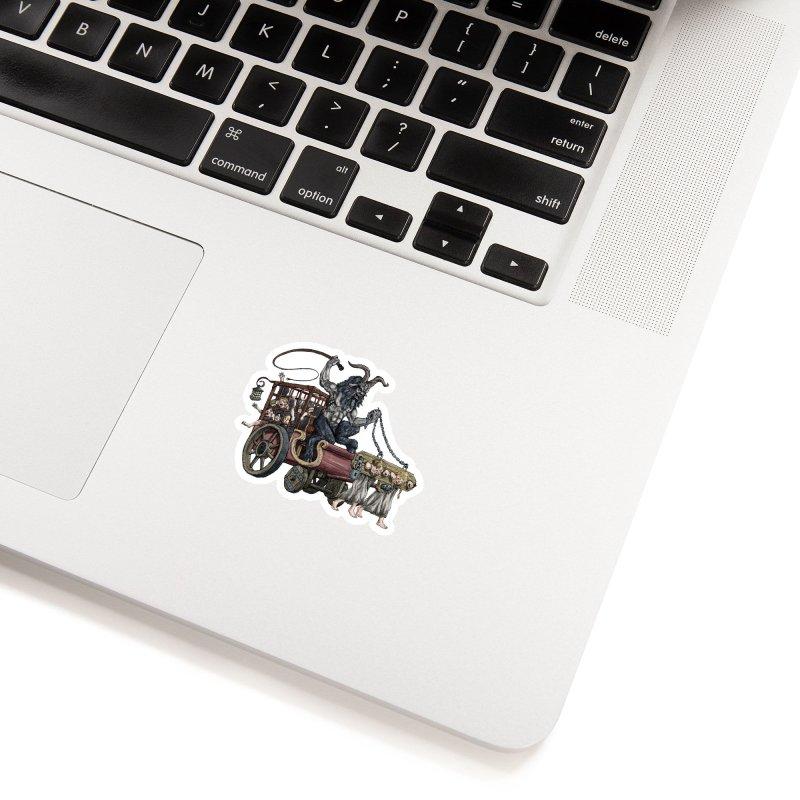 Krampus Wagon Accessories Sticker by Octophant's Artist Shop