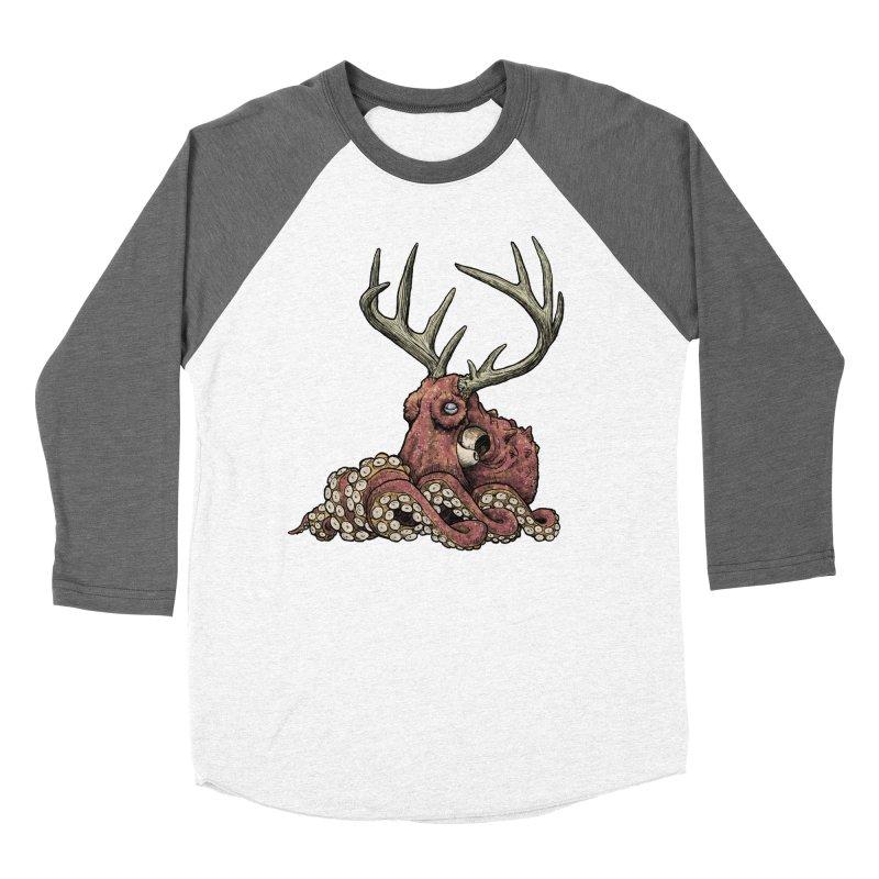 Octolope Women's Baseball Triblend T-Shirt by Octophant's Artist Shop
