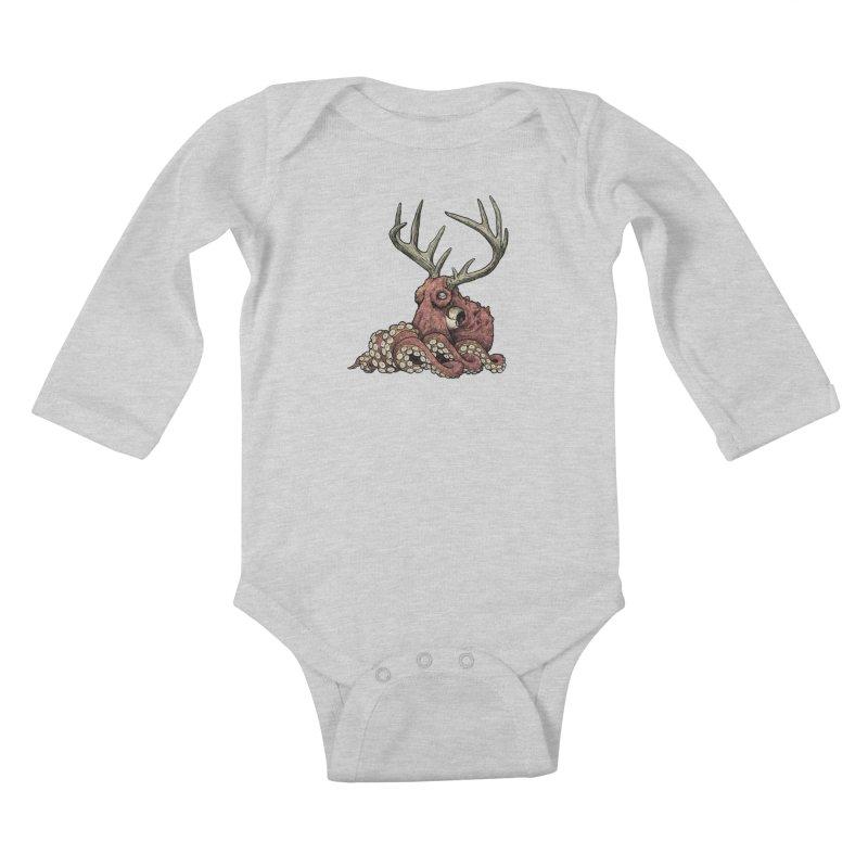 Octolope Kids Baby Longsleeve Bodysuit by Octophant's Artist Shop