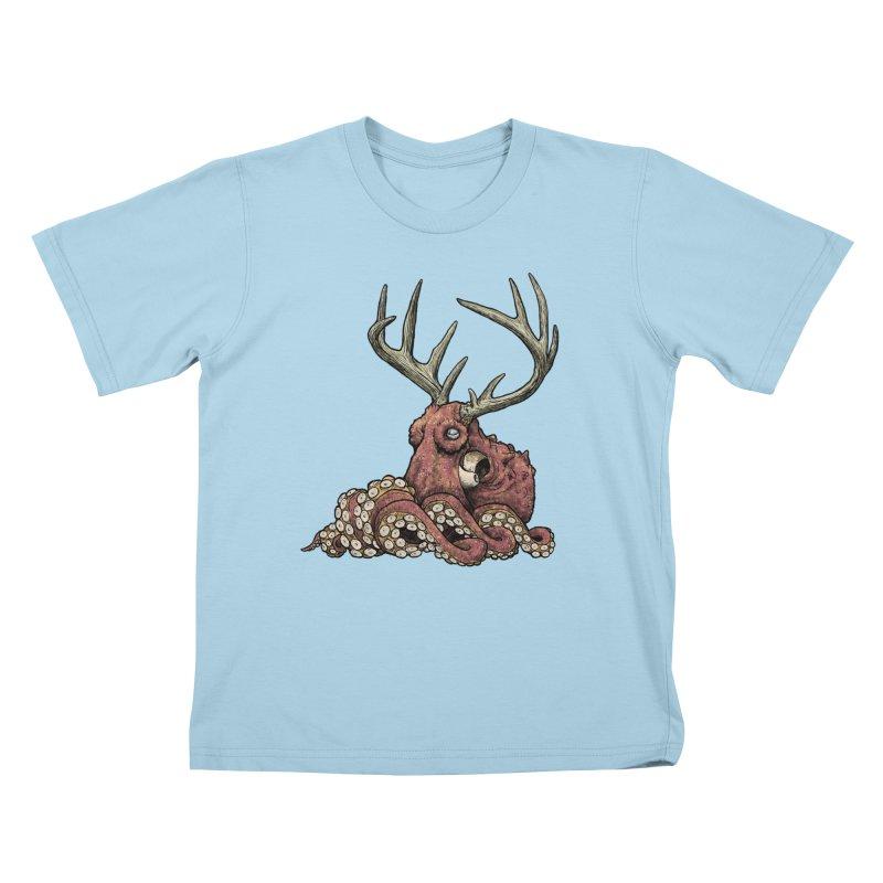 Octolope Kids T-shirt by Octophant's Artist Shop