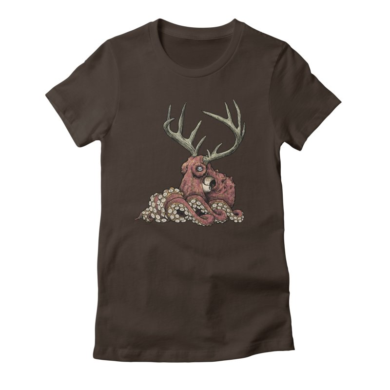 Octolope Women's Fitted T-Shirt by Octophant's Artist Shop