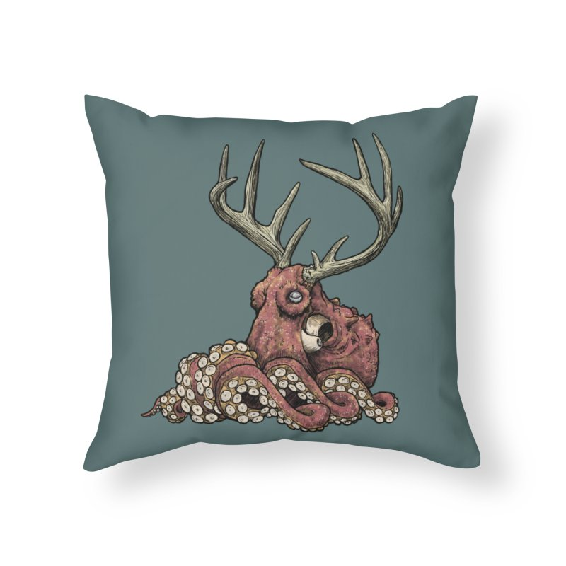 Octolope Home Throw Pillow by Octophant's Artist Shop