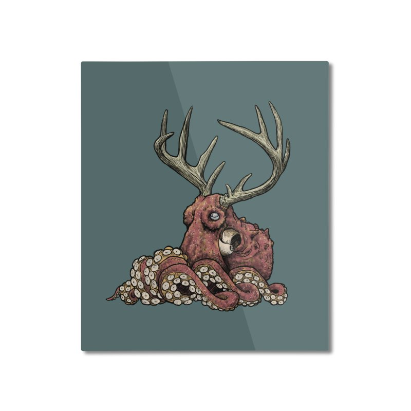 Octolope Home Mounted Aluminum Print by Octophant's Artist Shop