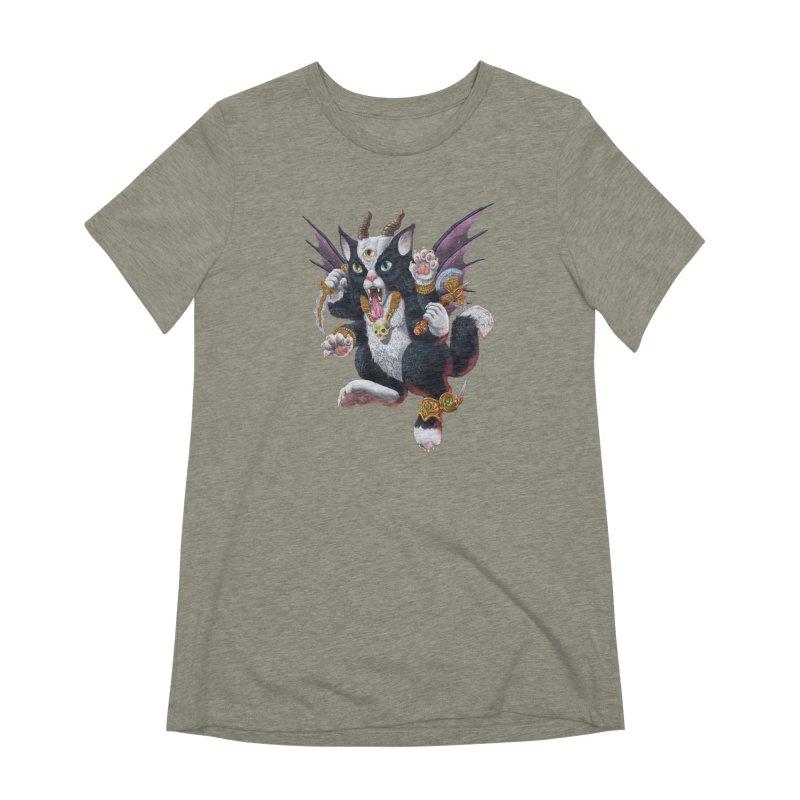 Demon Kitten Women's Extra Soft T-Shirt by Octophant's Artist Shop